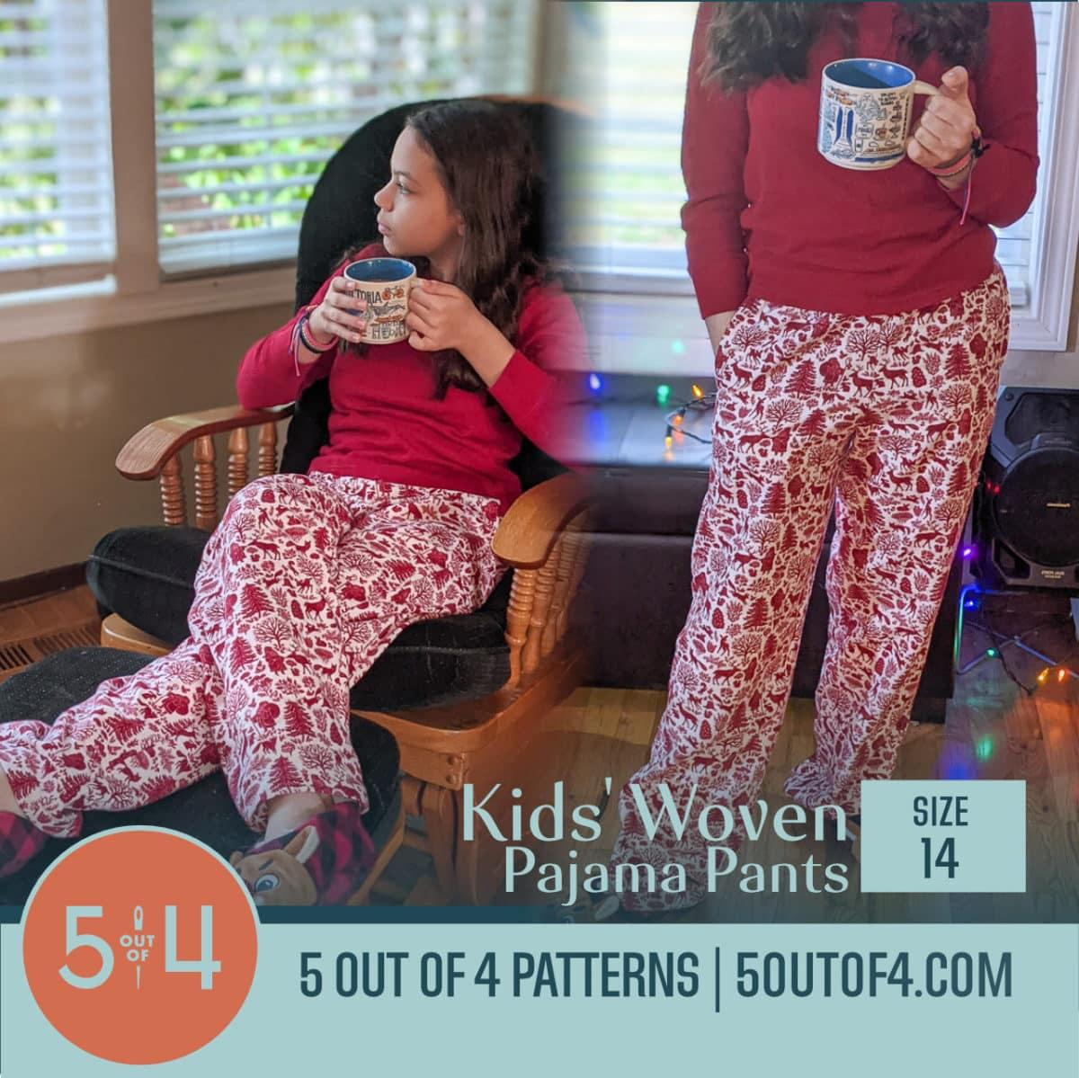 Kids' Woven Pajama pants size 14