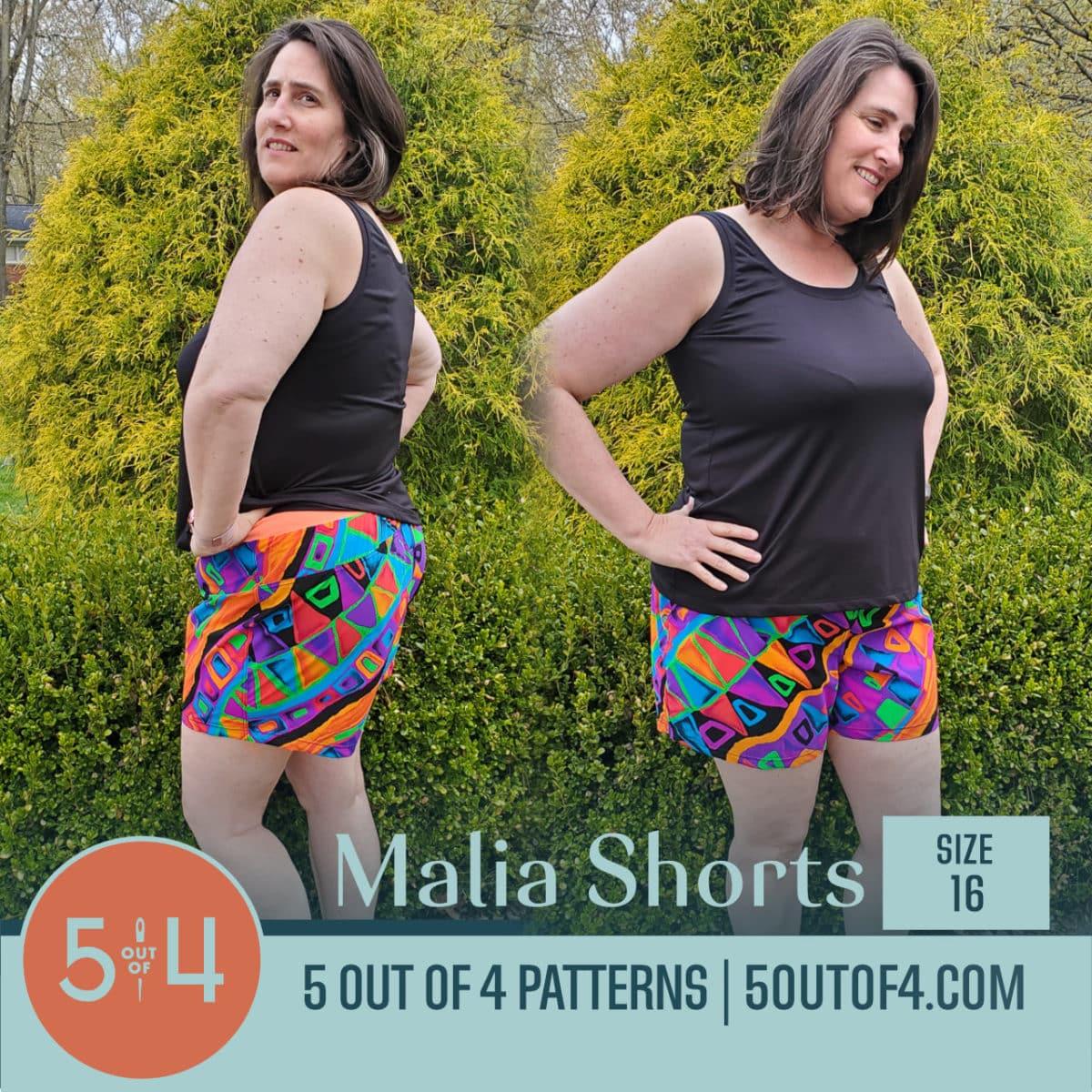 Malia Shorts Size 16 colorful
