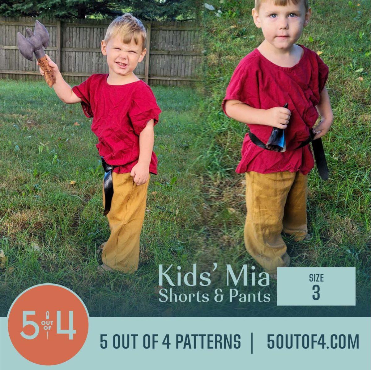 5oo4 Patterns Kids' Mia Pants Size 3