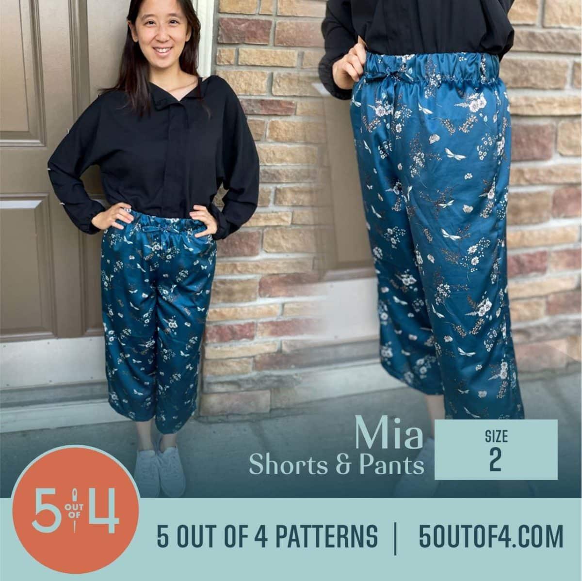 5oo4 Patterns Mia Pants size 2