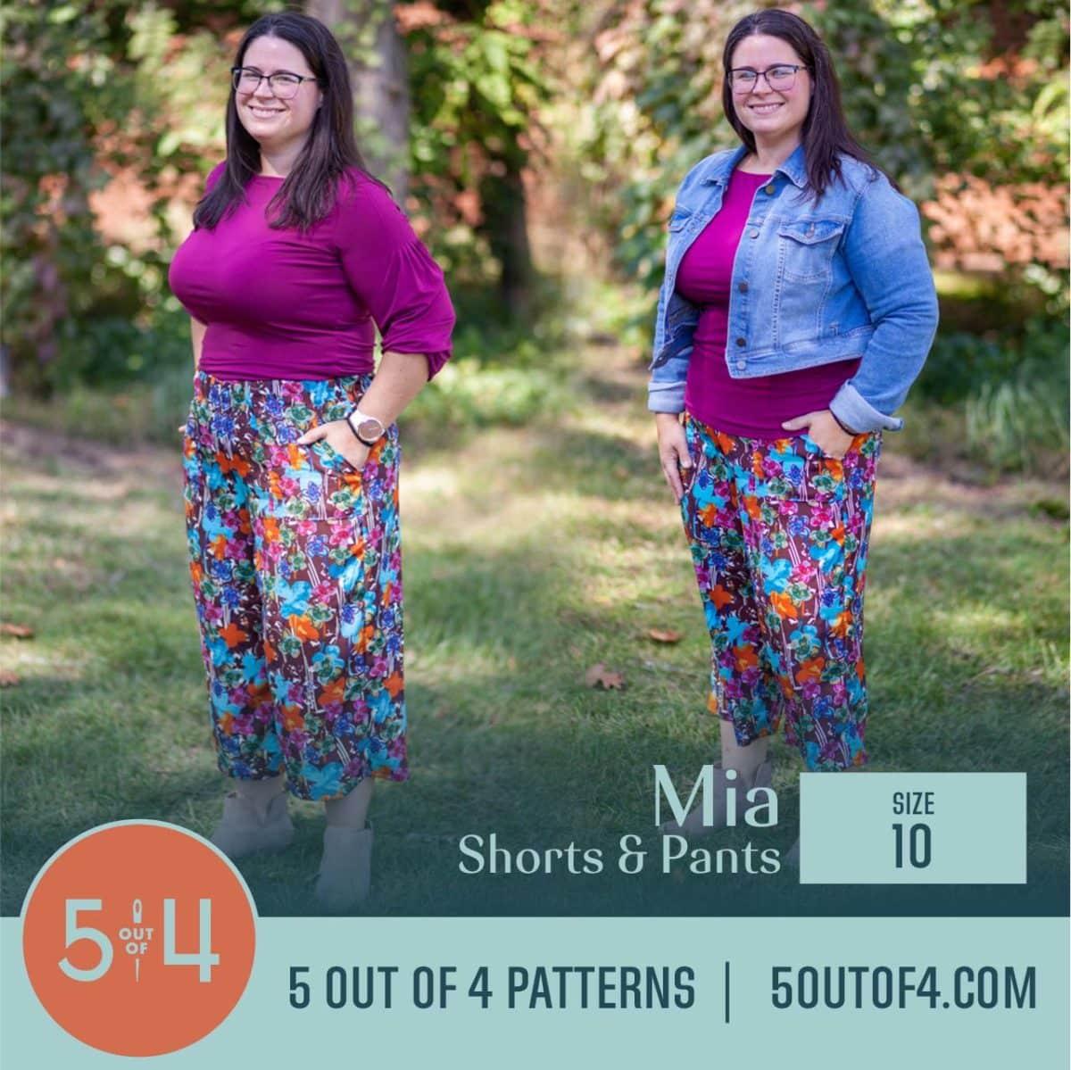 5oo4 Patterns Mia Pants size 10