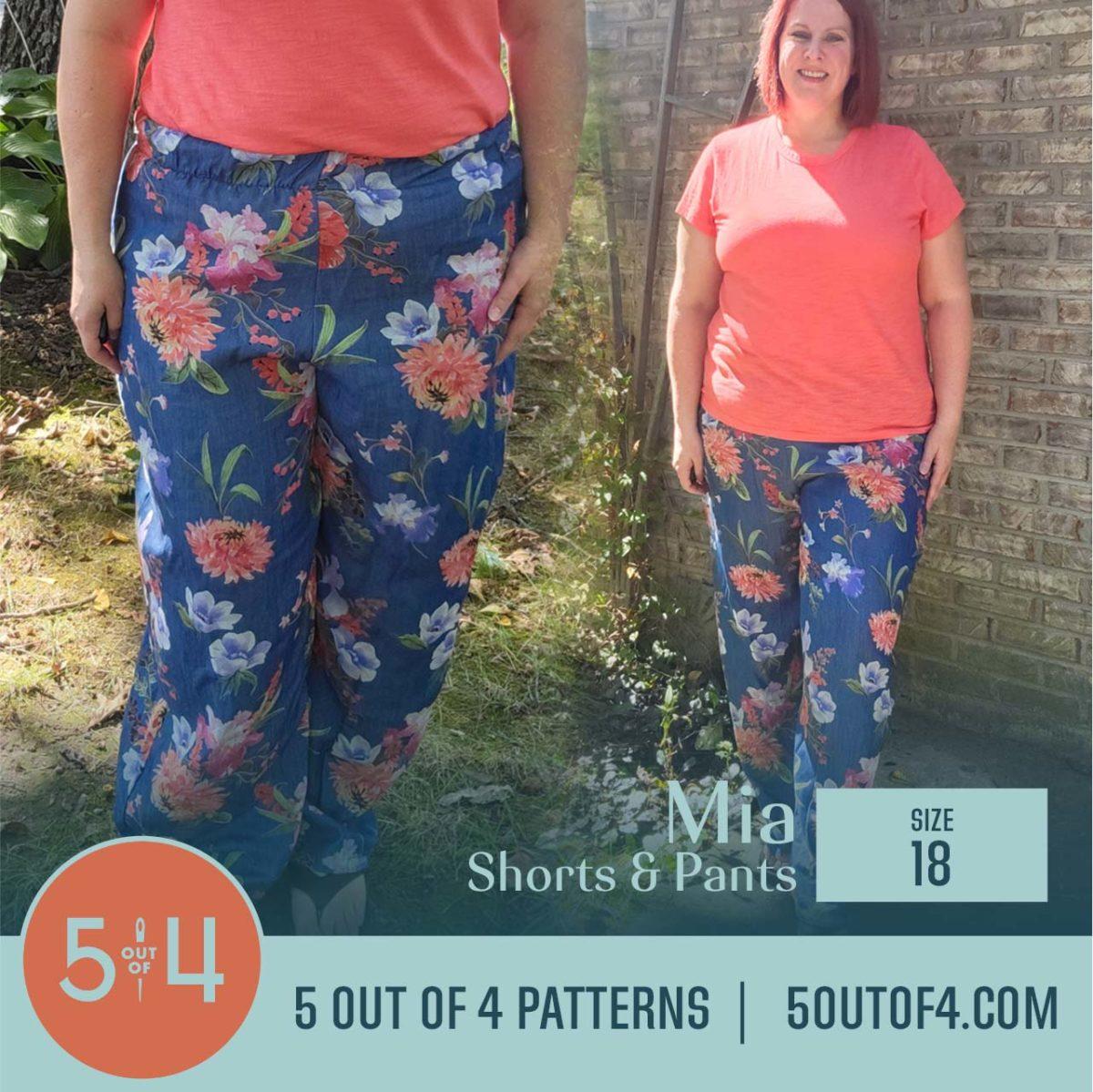 5oo4 Patterns Mia Pants Size 18