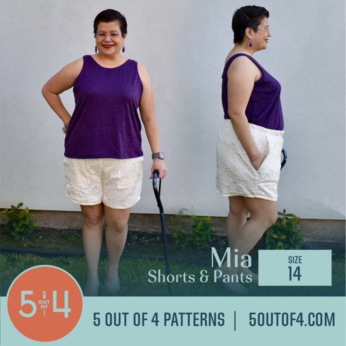 5oo4 Patterns Mia Pants size 14