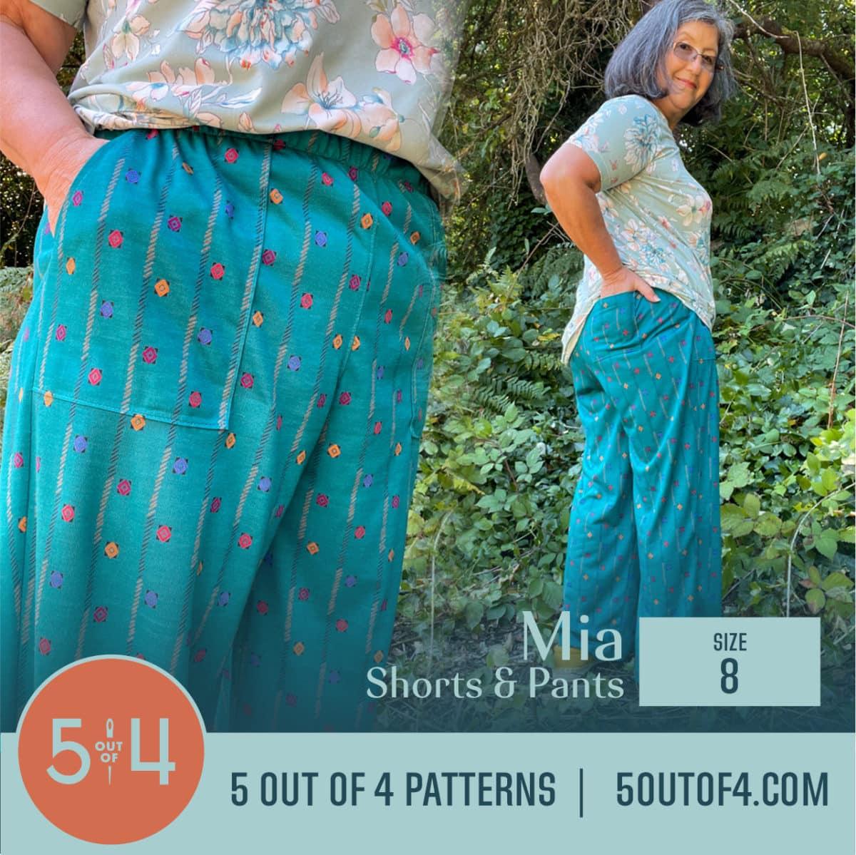 5oo4 Patterns Mia Pants size 8