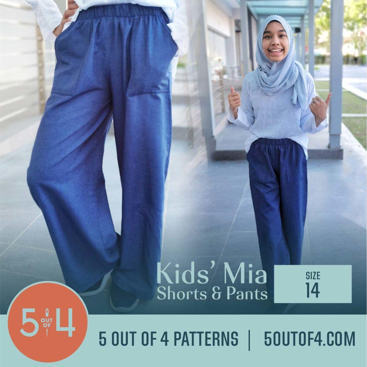 5oo4 Patterns Kids' Mia Pants Size 14