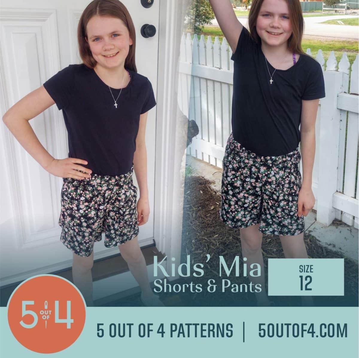 5oo4 Patterns Kids' Mia Pants Size 12